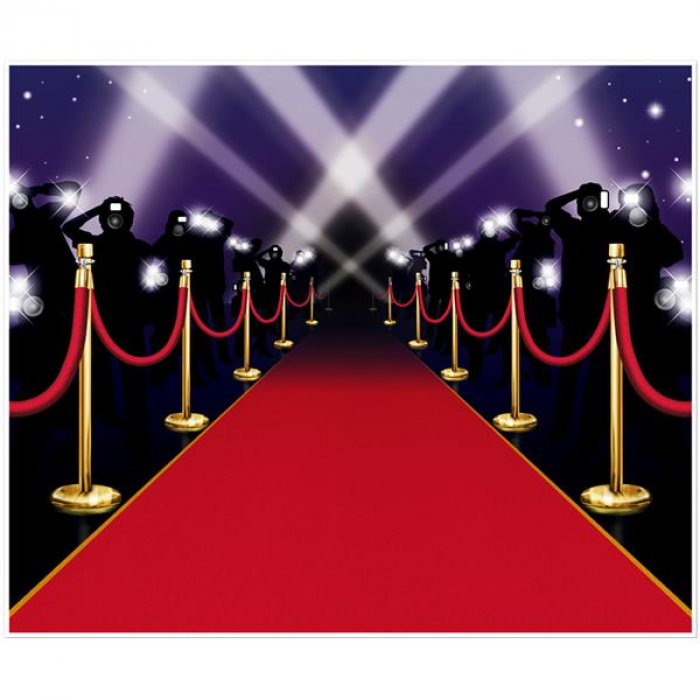 Red Carpet Scene Backdrop