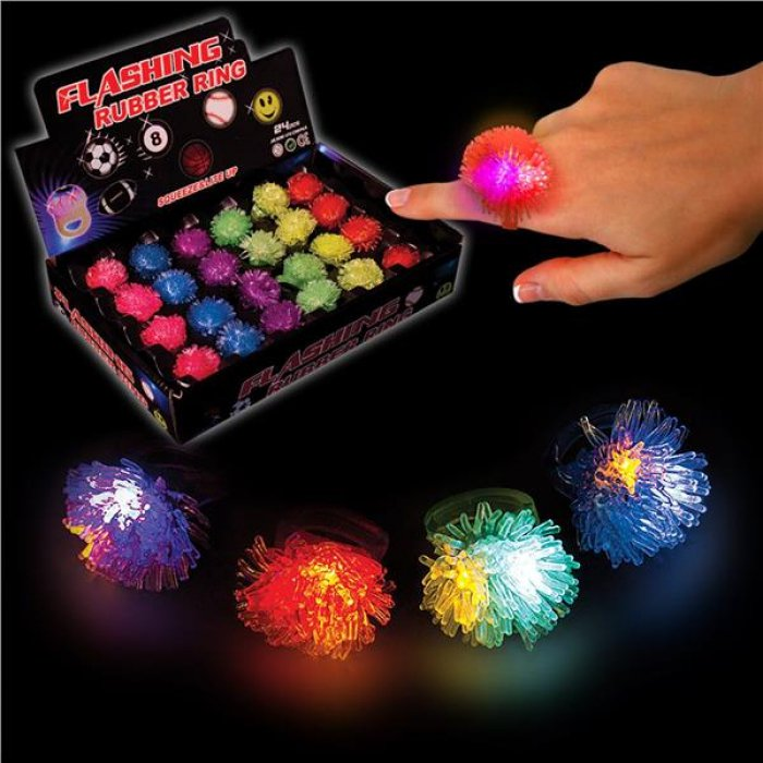 LED Porcupine Jelly Rings