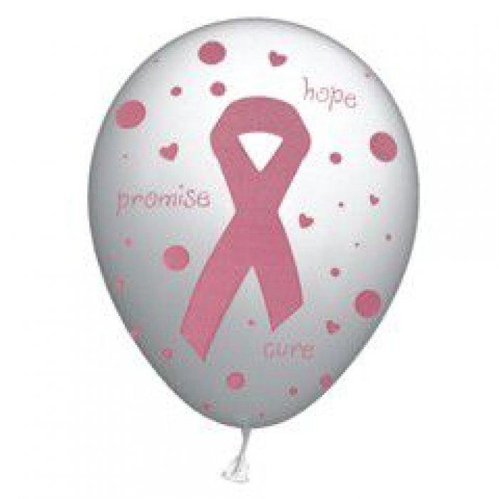 """Pink Ribbon 11"""" Latex Balloons"""