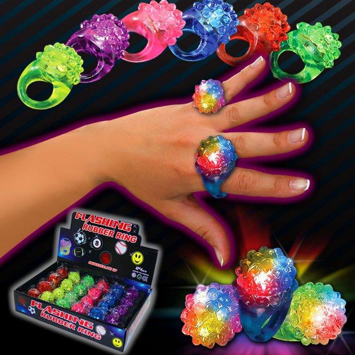 LED Flower Jelly Rings