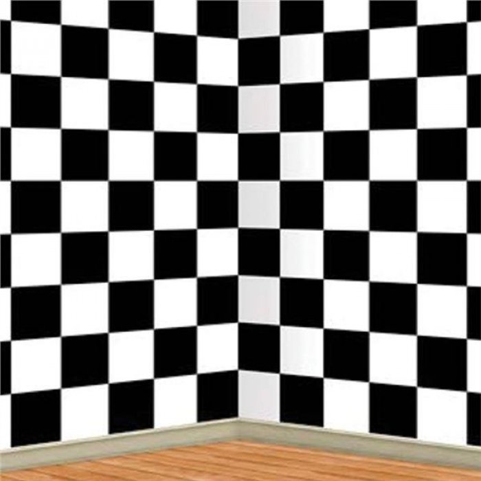 Checkered Backdrop Room Roll