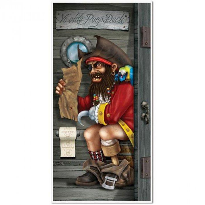 Pirate Bathroom Door Cover