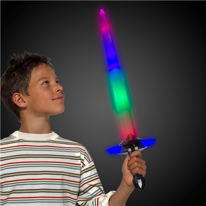 LED Sword with Black Light-Up Handle