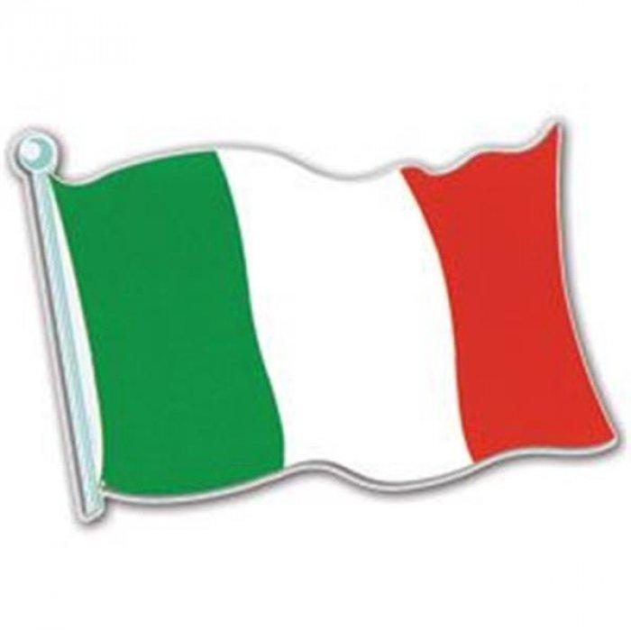 Italian Flag Cutout