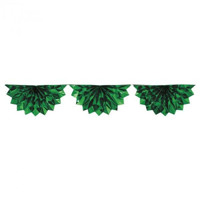 Green Metallic Bunting Garland