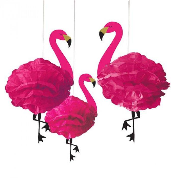 Fluffy Tissue Flamingos