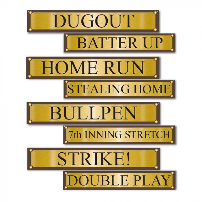 Baseball Street Signs Cutouts