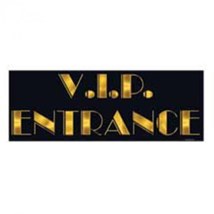 VIP Entrance Sign Cutout
