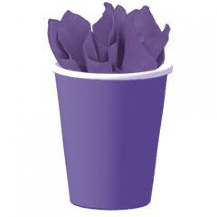 Royal Purple 9 oz Paper Cups