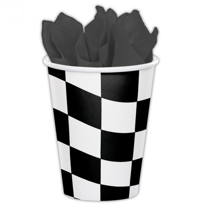 Checkered 9 oz Paper Cups