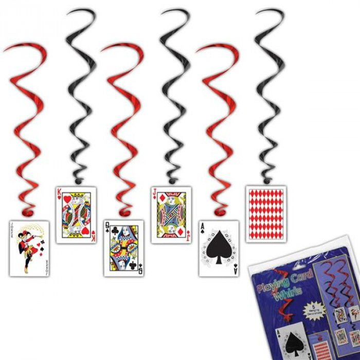 Playing Card Whirl Decorations