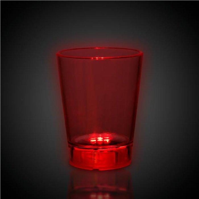 LED Red Dice 2 oz Shot Glass