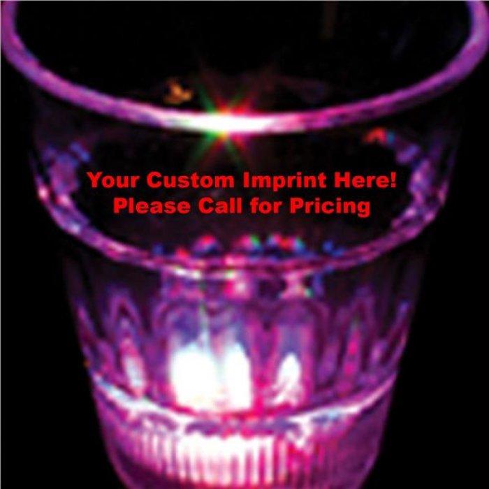 Multi-Color LED 2 oz  Clear Shot Glass