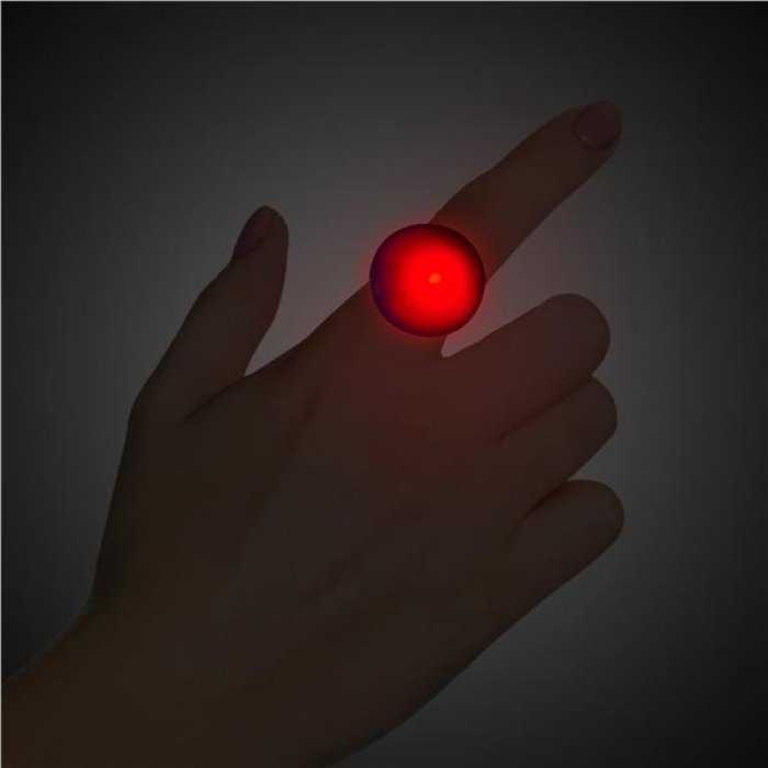 Red LED and Light - Up Button Ring