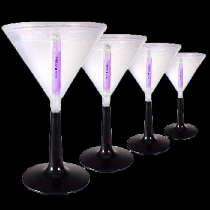 Purple Glowing Martini Glass (Per Piece)