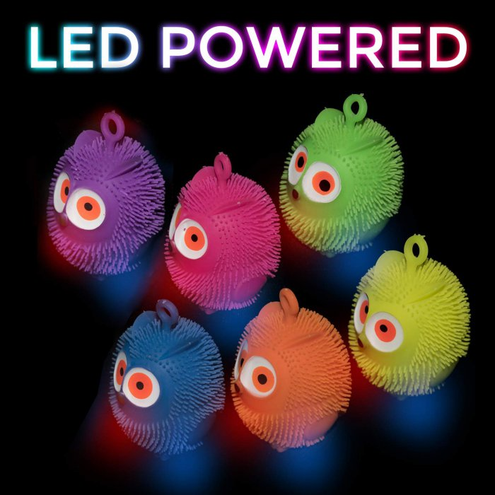 "4"" Light-Up Flashing Owl Puffers"