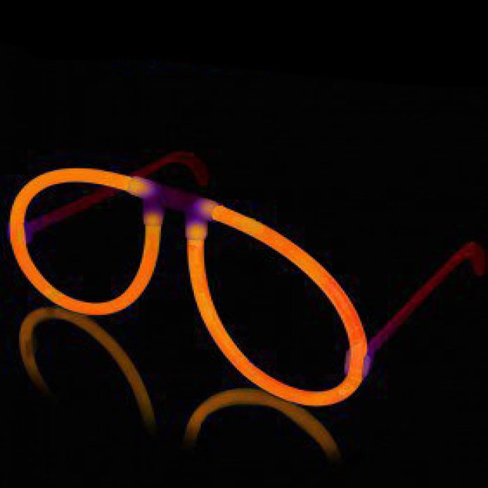 Glow Eyeglasses - Aviator - Orange
