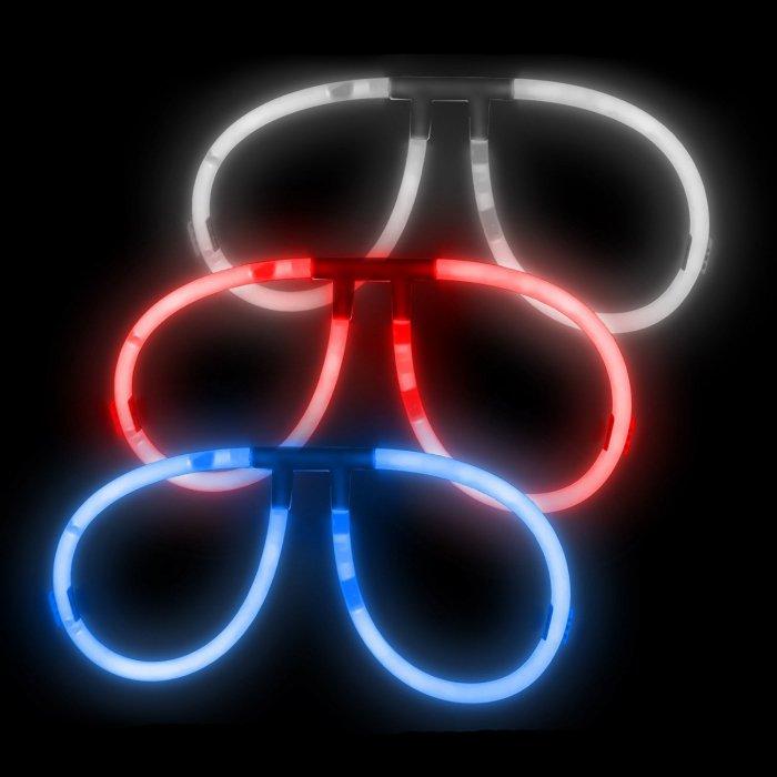 Aviator Eyeglasses -Red, White & Blue (150 Pack)