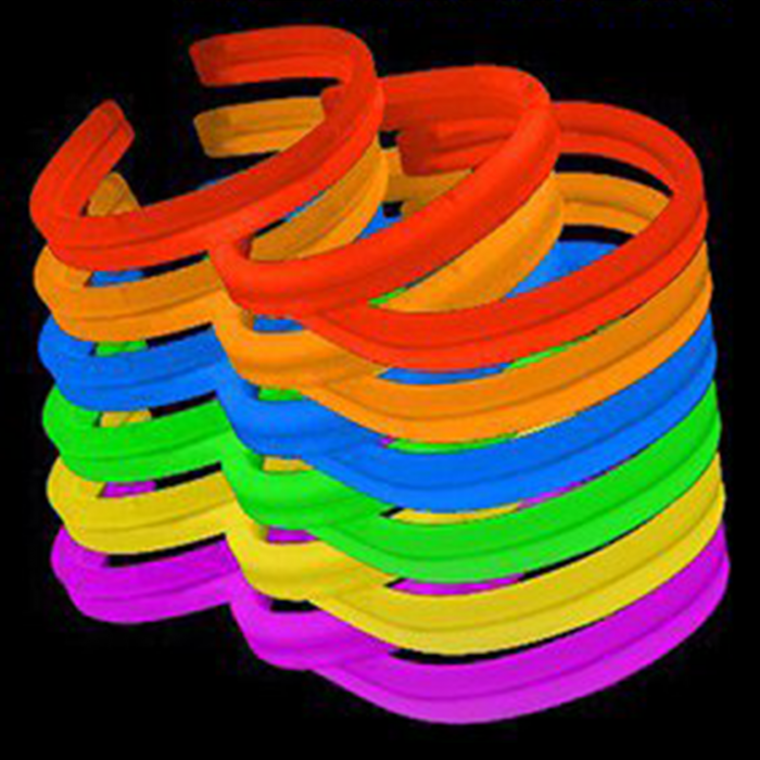 8'' Twister Glowstick Bracelets - Solid Color Mix