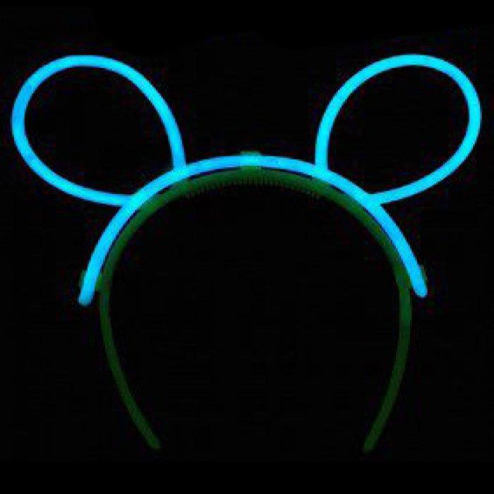 Glow Bunny Ears - Aqua