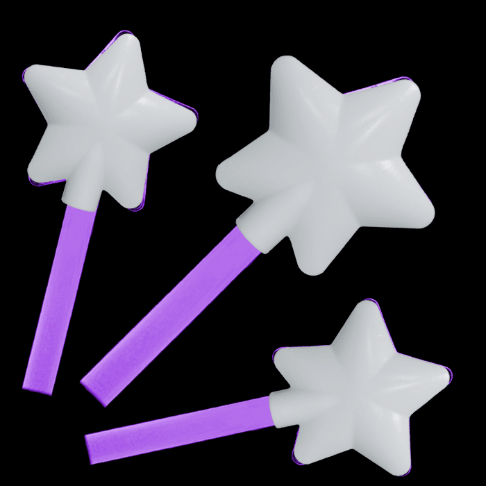 12 Inch Glowing Magic Wands - Purple