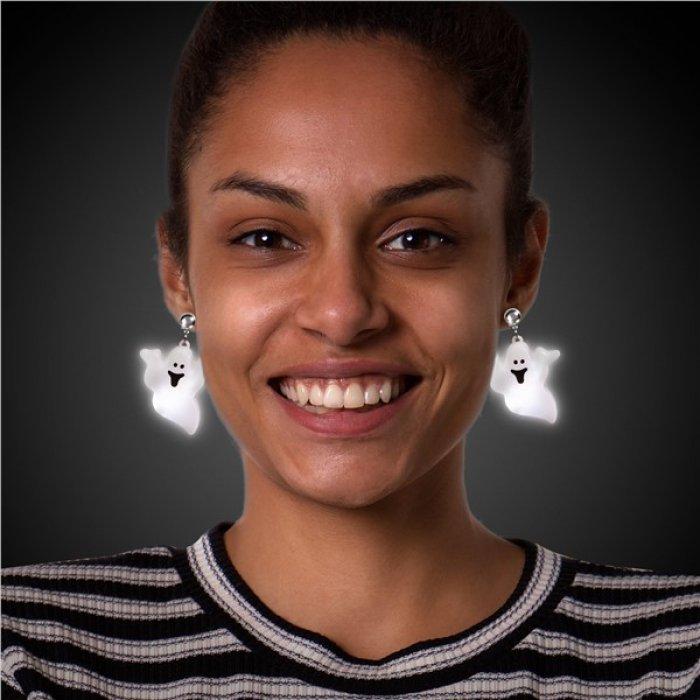 LED Jumbo Ghost Clip-On Earrings (Per pair)