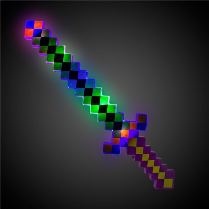 LED Mardi Gras Pixel Sword