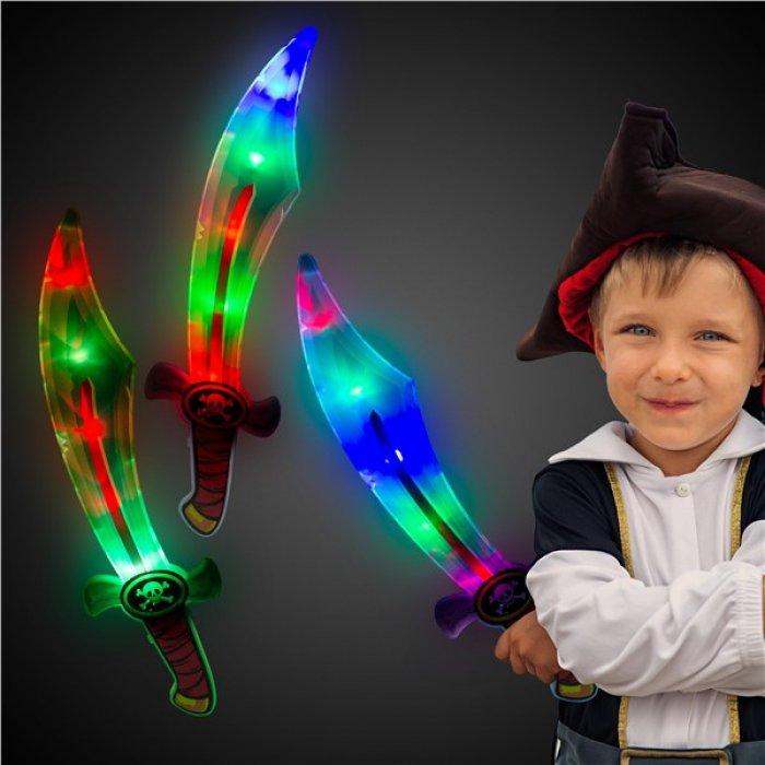 LED Pirate Swords (Per 3 pack)