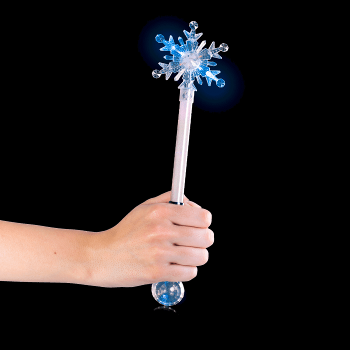"21"" Snowflake Magic Ball Wand"