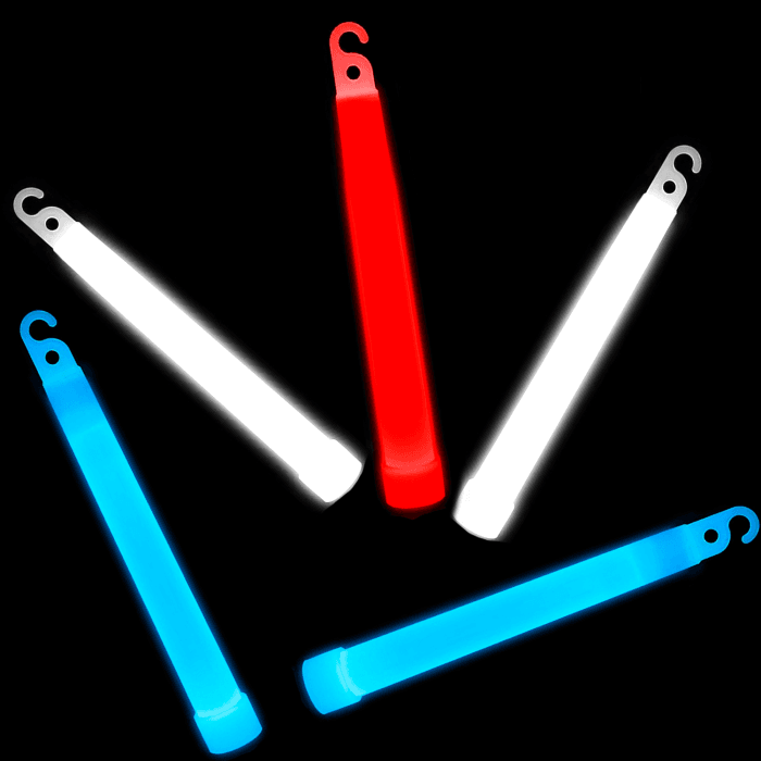 "6"" Premium Glowstick -Red, White & Blue (72 pack)"