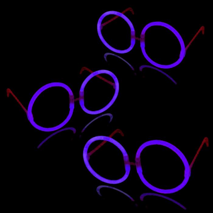 Glow Eyeglasses - Round - Purple