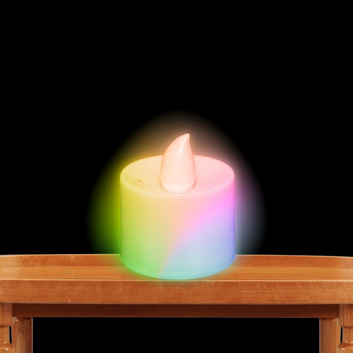 Light Up Tea Light Candles LED- Multicolor