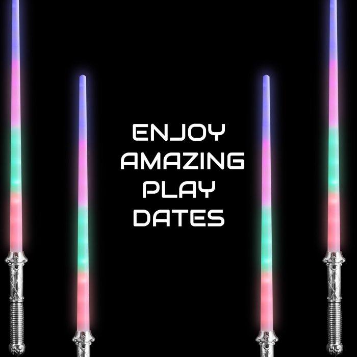 LED Light-Up Magic Prism Sword