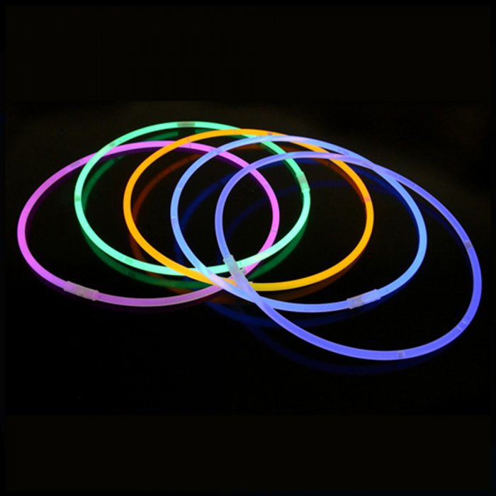 20 Inch Glow Stick Necklaces - 8 Color Mix