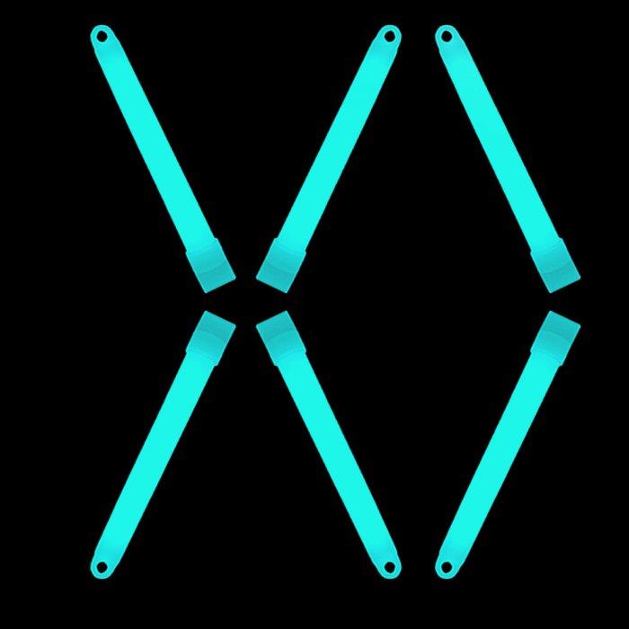 6'' Premium Glow Sticks - Aqua