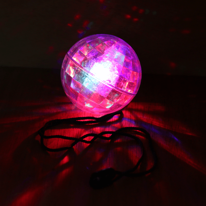 LED Light Up Disco Ball Necklace
