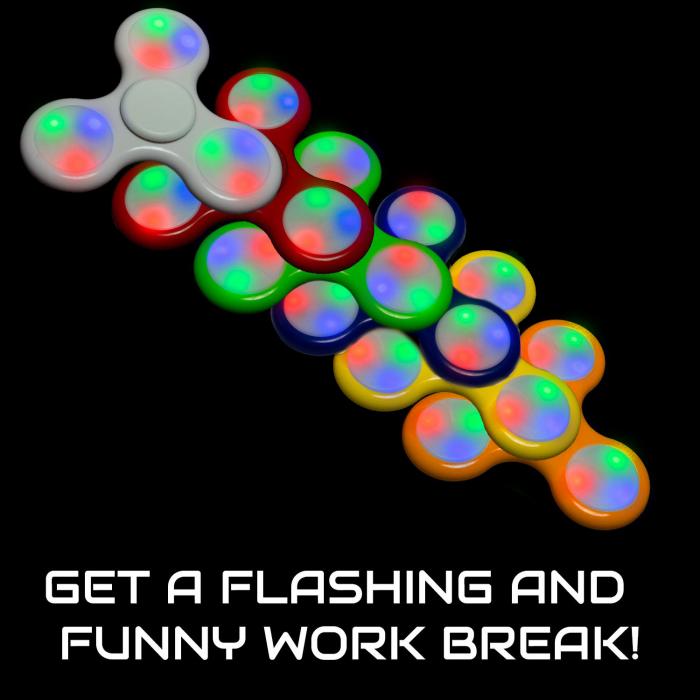 LED Light-Up Fidget Spinners