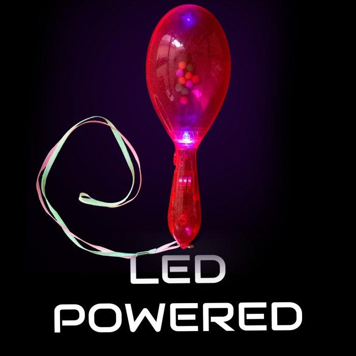 LED Light Up Maracas - Pink