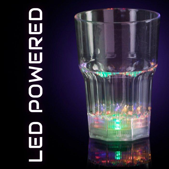 LED Flashing 8oz Whiskey Glass