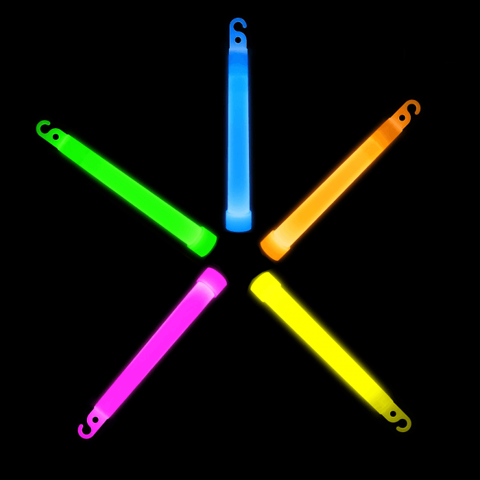 6'' Premium Glow Sticks - 5 Color Mix