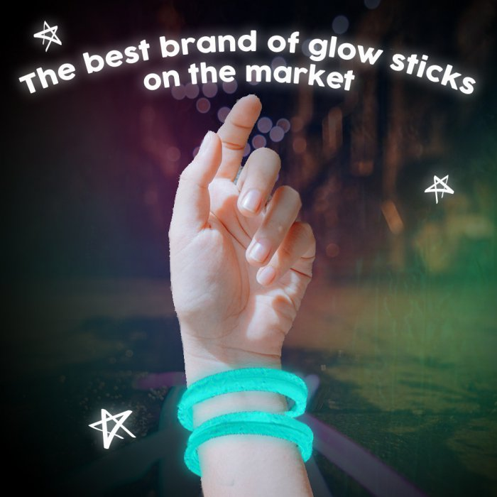 8'' Twister Glowstick Bracelets - Aqua