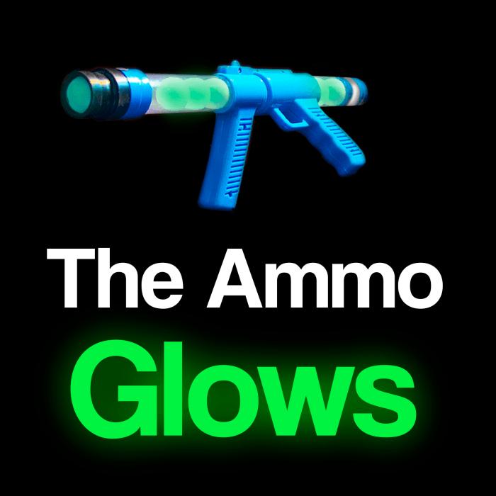 19'' Glow In The Dark Moon Blaster Gun, Blue