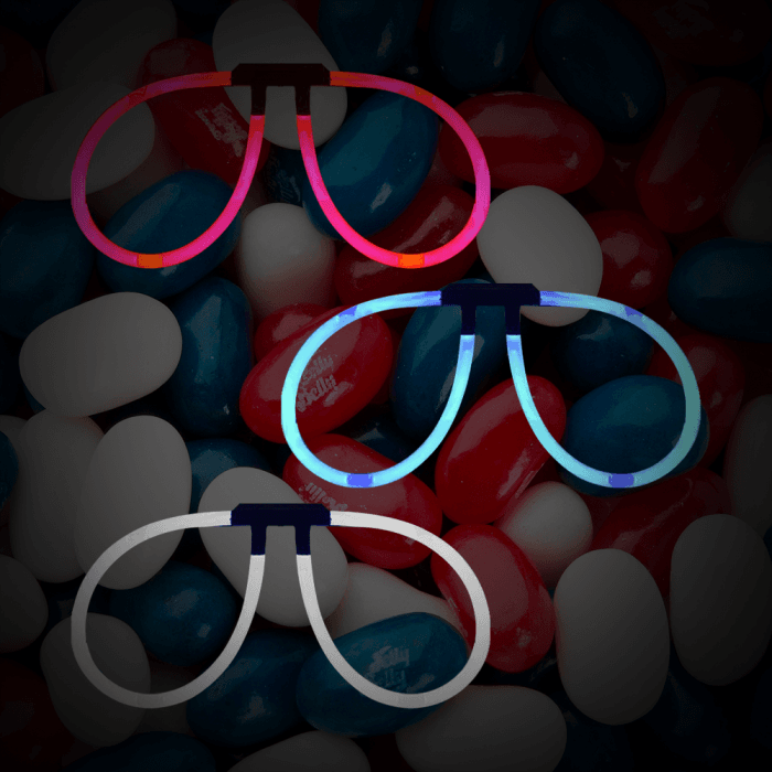 Aviator Eyeglasses -Red, White & Blue (150 Pack)
