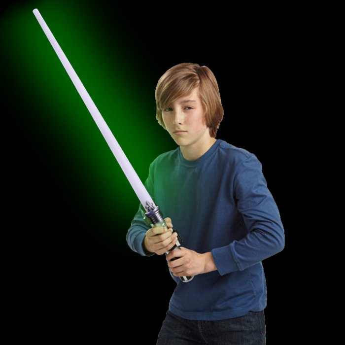 LED Light-Up 28 Inch Magic Sword - Green