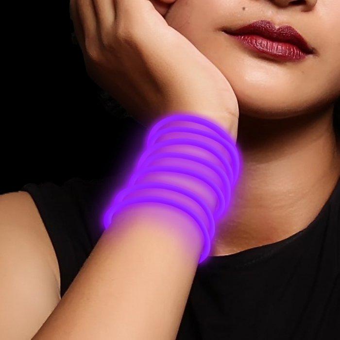 10 Inch Glow Stick Bracelets - Purple