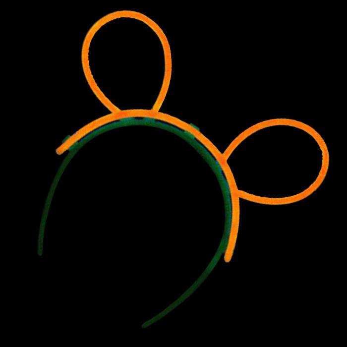 Glow Bunny Ears - Orange