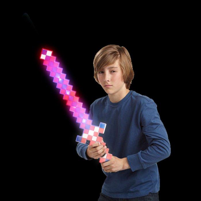 LED Light-Up Pixel Sword - Patriotic