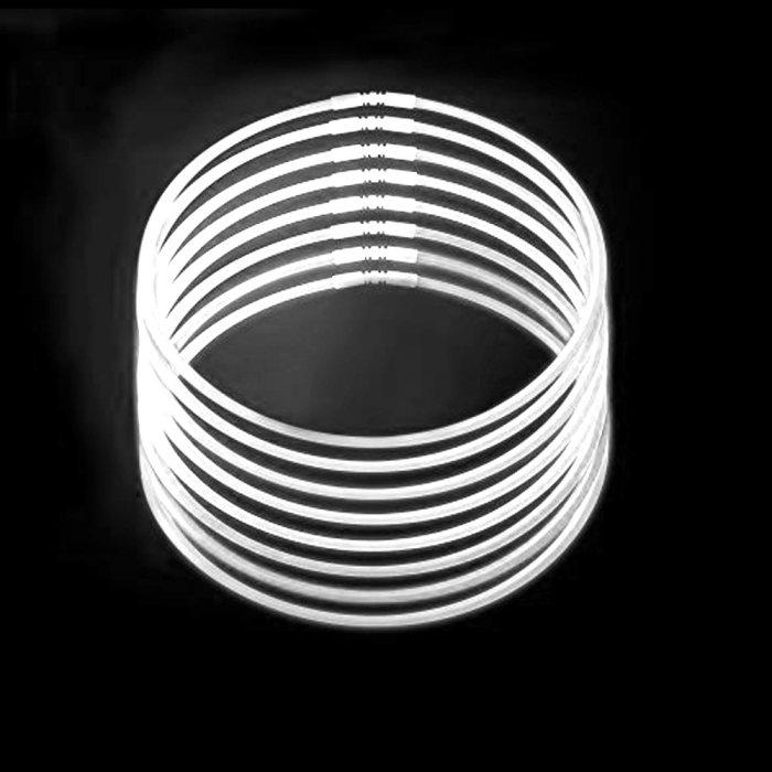 20 Inch Glow Stick Necklaces - White