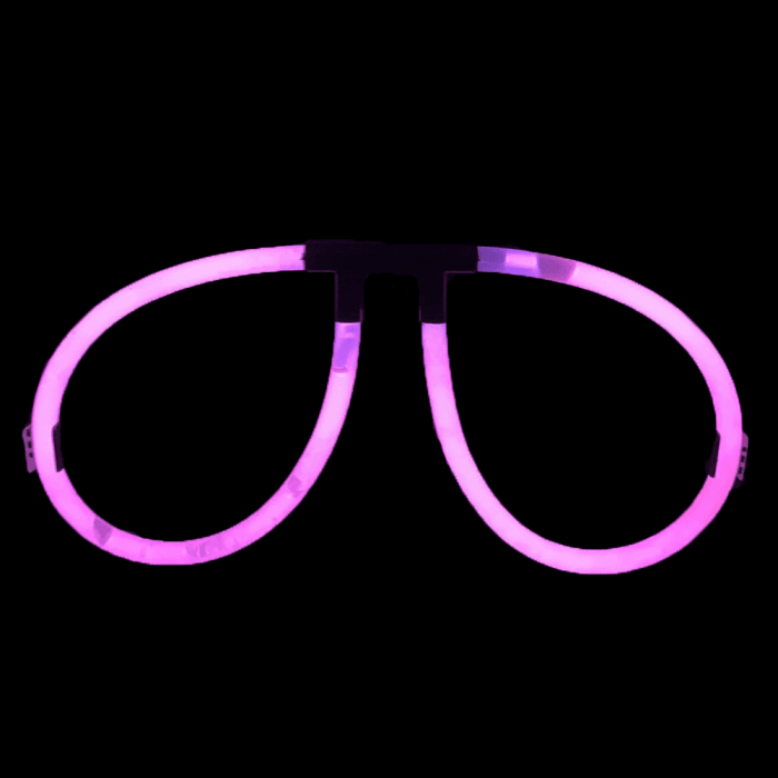 Glow Eyeglasses - Aviator - Purple