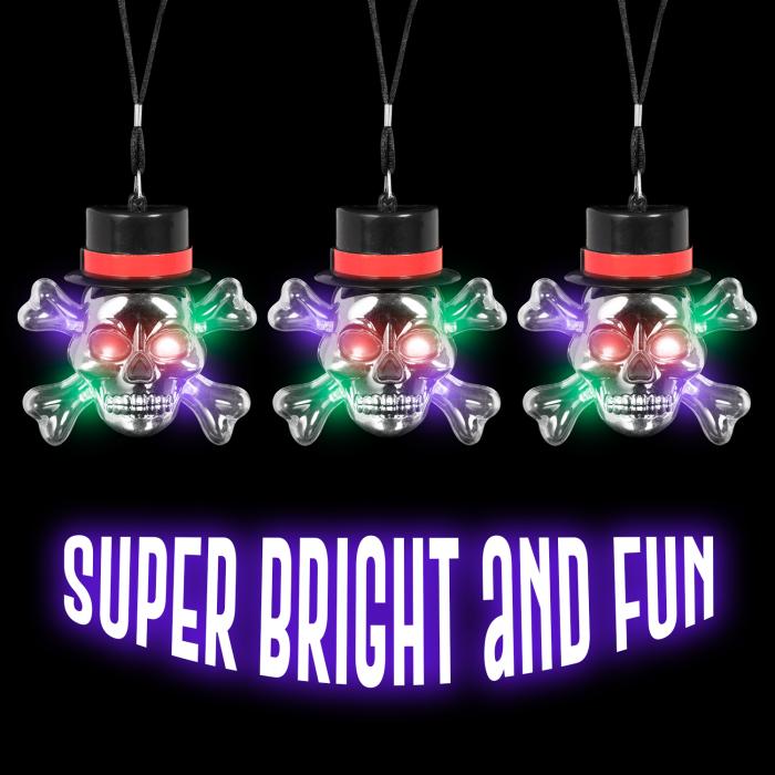 LED Flashing Skull Necklace